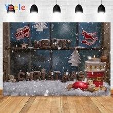 Фон для фотосъемки yeele с изображением большого окна снега