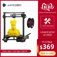 Anycubic 3D Printer anycubic Chiron Plus Large Printing Size 2019 3D printer Print DIY Kits FDM TFT impresora 3d