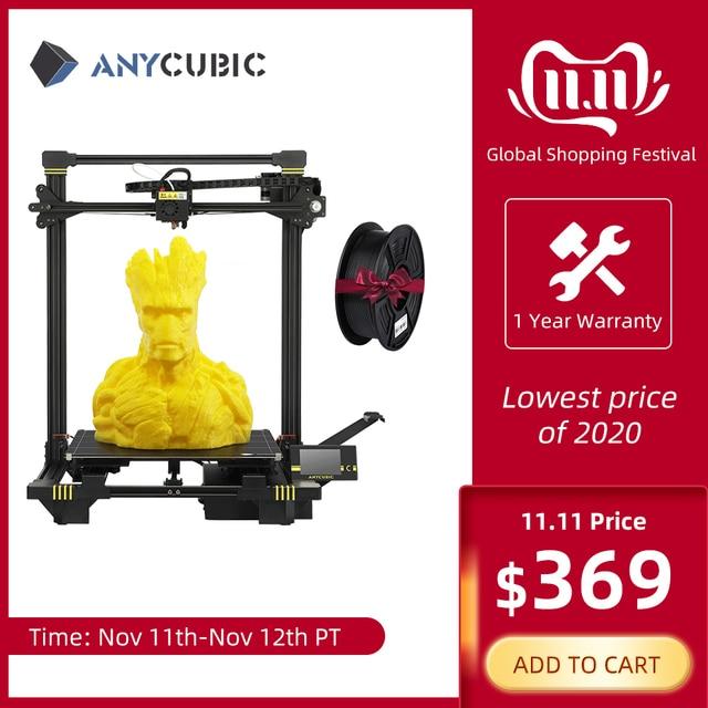 طابعة Anycubic ثلاثية الأبعاد anycubic Chiron Plus مطبوعة كبيرة الحجم 2019 طابعة ثلاثية الأبعاد طباعة لتقوم بها بنفسك أطقم FDM TFT impresora ثلاثية الأبعاد