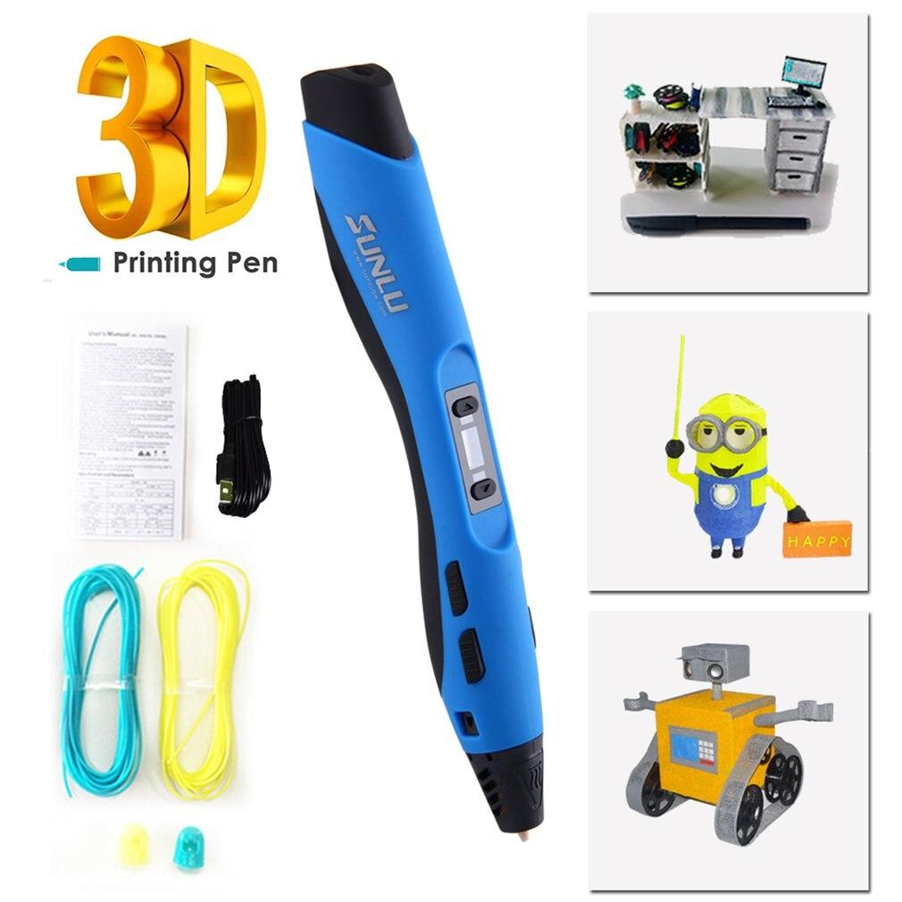 SUNLU pluma de impresión 3D de baja temperatura pluma de Graffiti para niños herramienta de dibujo divertida con 10M 20 colores Material PLA dropshipping. Exclusivo. - 4