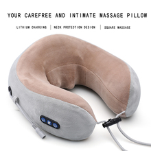 Electric Massage U-Shaped Pillow Multi-Function Neck Massager & Pulse Back Pain Relief Tool Outdoor Portable Car Health Care