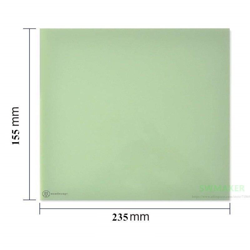 155x235x2mm 3D Printer Platform Polypropylene Build Plates Polyglass For Flashforge Dreamer, Pro And Creator CTC 3D Printer