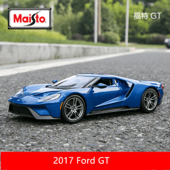 Maisto 1:18  2017 Ford GT car alloy car model simulation car decoration collection gift toy Die casting model boy toy maisto 1 18 2017 ford gt yellow silver blue car diecast exquisite luxury car toy model collecting car model for men gift 31384