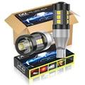 DXZ 10 шт. T15 W16W светодиодный лампы T16 Canbus лампы 12-SMD 1200LM 921 912 задний указатель поворота автомобиля Резервное копирование Тормозной светильник а...