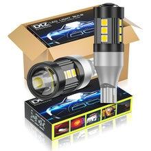 Dxz 10 pces t15 w16w lâmpadas led t16 canbus bulbo 12-smd 1200lm 921 912 sinal de volta do carro reverso backup luz de freio lâmpada automática 6500k