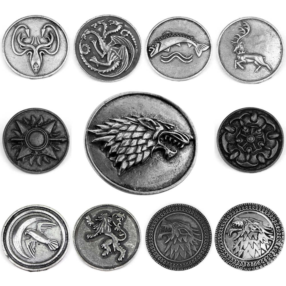 Game Of Thrones Lencana Kerah Pin Bros House Stark Targaryen Keluarga Bros Vintage Dragon Cosplay Ransel Pin Perhiasan