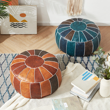 Unstuffed-Cushion Footstool Ottoman Pouf Moroccan Home-Decor Round Hassock 55cm Craft