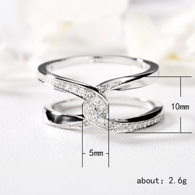 Купить женское кольцо с двумя геометрическими линиями visisap vogue