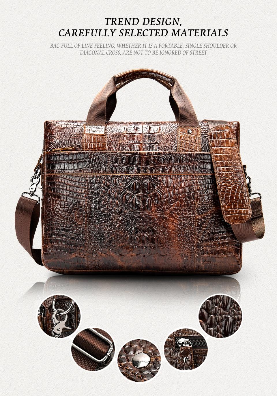 Haa65d9a778be4997a2a64f057de68cfa5 WESTAL Men Briefcase Men's Bag Genuine Leather Office Bags for Men Laptop Bag Leather Briefcase Men Croco Design Computer Bags