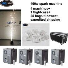 Envío Gratis máquina de fuegos artificiales 400W fría chispa boda llama fuente DMX y Control remoto máquina de destellos