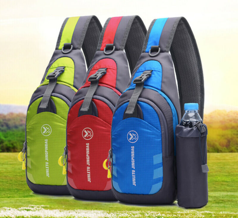 Unisex Waterproof Chest Bag Outdoor Sport Travel Shoulder Backpack Kettle Bag Nylon Crossbody Shoulder Chest Cycle Sling Bag