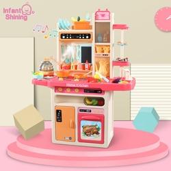 Baby Shining Keuken Speelgoed Pretend Play 65 stks/set Koken Speelgoed Servies Sets Baby Keuken Koken Simulatie