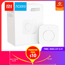 Xiaomi Aqara Wireless Mini Switch,Zigbee Connection,Versatile 3way Control Button for Smart Home Devices,Work with Apple HomeKit