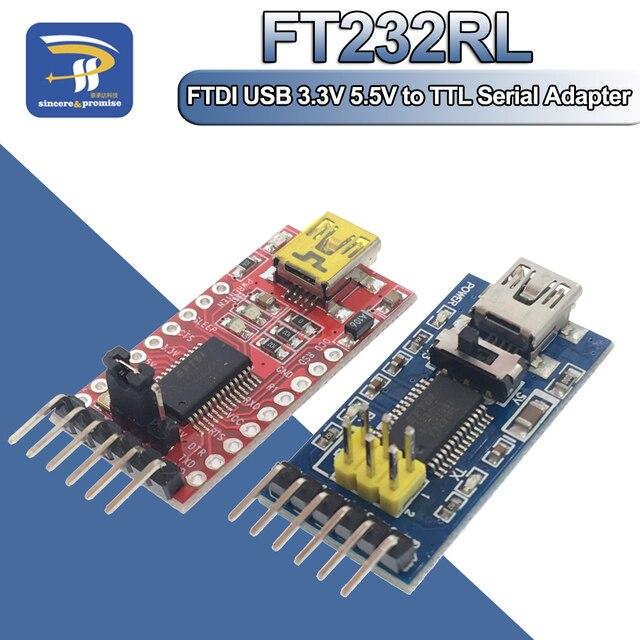FT232RL FT232 FTDI USB 3.3 فولت 5.5 فولت إلى TTL محول مسلسل محول وحدة منفذ صغير لاردوينو برو USB صغير إلى 232 USB إلى TTL