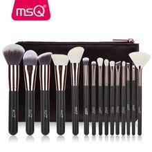 MSQ Rose Gold 7PCS 15PCS Makeup Brushes Set Powder Foundation Eyeshadow Make Up