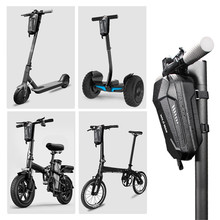 Bicycle Front Bag Storage Bag Handlebar Cell Phone Bag for Electric Scooter Bike Folding Capacity Waterproof Bicycle Bike Bag bicycle front bag large capacity multi function front head bag folding bike electric car bag rainproof cover