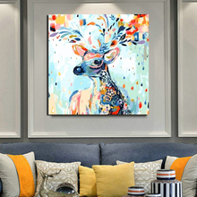 Animal Print Deer Artwork Canvas Painting Living Room Home Decoration Modern Wall Art Oil Posters Picture