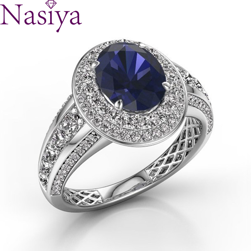 Sapphire Gemstone Ring 925 Silver Wind Ring Fine Jewelry For Women