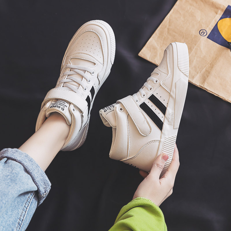 2020 Spring New Soprts Sneakers Fashion Comfortable Damping Non-slip Shoes Casual High-top Letter Motion Women's Vulcanize Shoes