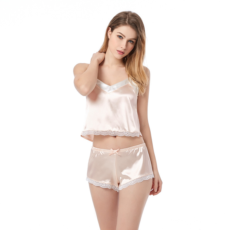 Купить пикантные пижамные комплекты летний женский комплект милые розовые