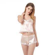 Пикантные пижамные комплекты летний женский комплект милые розовые
