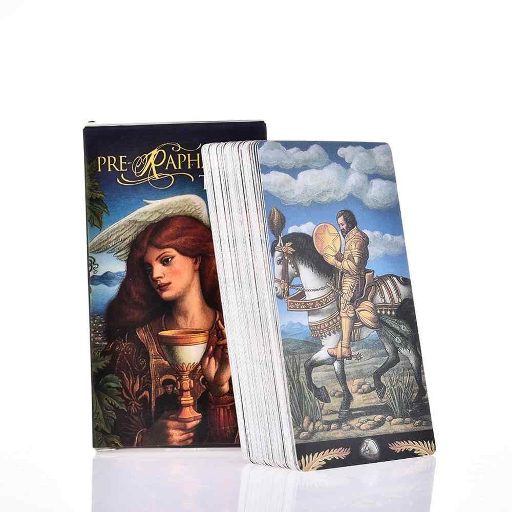 78 adet ön Raphaelite Tarot kartları tüm İngilizce kutulu aile ebeveyn-çocuk ile oyun oynamak çocuklar eğlenceli oyun masa eğlence