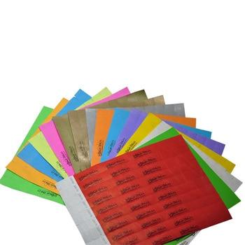 This is a photo of Printable Tyvek Wristbands regarding diy
