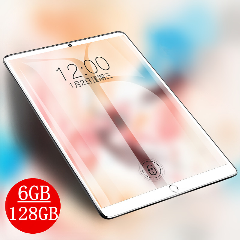 10.1 Inch IPS 1280*800 Tablet 3G 4G LTE Dual SIM Card Tablet PC Octa Core 6GB RAM 128GB ROM Tablets Android 9.0 Bluetooth GPS