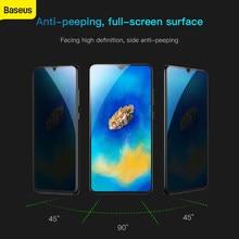 Baseus 0.3 Mm Gehard Glas Privacy Screen Protector Voor Huawei Mate20 Beschermende Glas Voor Huawei Mate20 Zwart