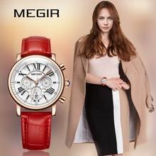 MEGIR Fashion Women Bracelet Watches Top Brand Luxury Ladies Quartz Watch Clock for Lovers Relogio Feminino Sport Wristwatches стоимость