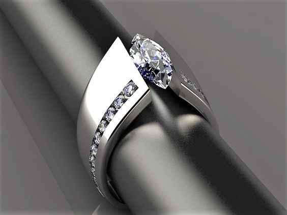 สไตล์ที่ไม่ซ้ำกันคริสตัล Silver Gold Rose แหวนดอกไม้หรูหราหญิงขนาดเล็ก Zircon แหวนสัญญาหมั้นแหวน