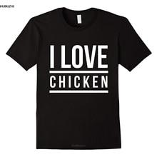 Cool I Love Chicken T-shirt Streetwear Funny Print Clothing