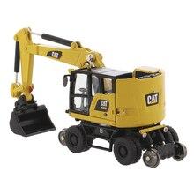 1/87 Caterpillar CAT M323F Railroad Wheeled Excavator Engineer Vehicle Car Model diecast masters caterpillar cat 320f l hydraulic excavator 1 50 85931