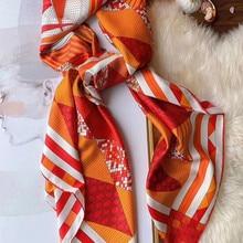 2020 new arrival fashion stripe pink design 100% silk scarf 140*140 cm big squar