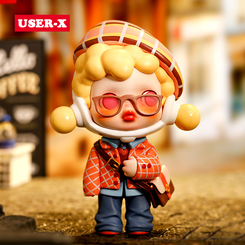USER-X POPMART Skullpanda Hypepanda Series Blind Box Confirmation Doll Binary Action Pop mart  Toys Figure Birthday Gift anmie