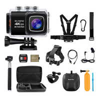 4K Sports Action Camera With EIS Function Remote Controller External Mic Underwater 30M WIFI Video Recording Cameras Accessory