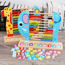 Kids Wooden Abacus Toys Small Calculator Handcrafted montessori Educational Math toys Children Calculating Beads Early Learning
