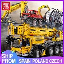 Mold KING zdalnie sterowana ciężarówka model high-tech zabawki moc silnika dźwig mobilny Mk II zestawy klocki klocki zabawki dla dzieci prezenty