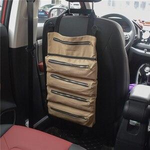 Image 3 - Car Multi functional  Backseat Storage Bag Multi pocket Car Organizer Car Storage Hanging Bag Universal Auto Seat Organizer