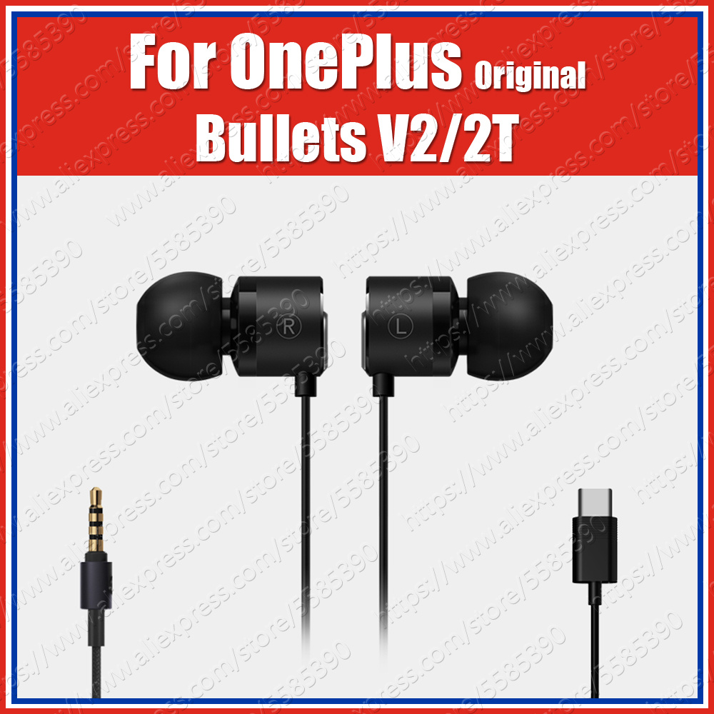 BE02B/T DAC Original OnePlus Bullets 2T Type-C Bullets V2 3.5mm Earphones Headsets With Mic For Oneplus 7T Pro 7 Pro 6T 6 5T 5