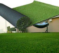Relvado artificial do casamento do campo de jogos do tapete do relvado do cerco verde da esteira da grama do gramado artificial para a decoração exterior da escola do pátio