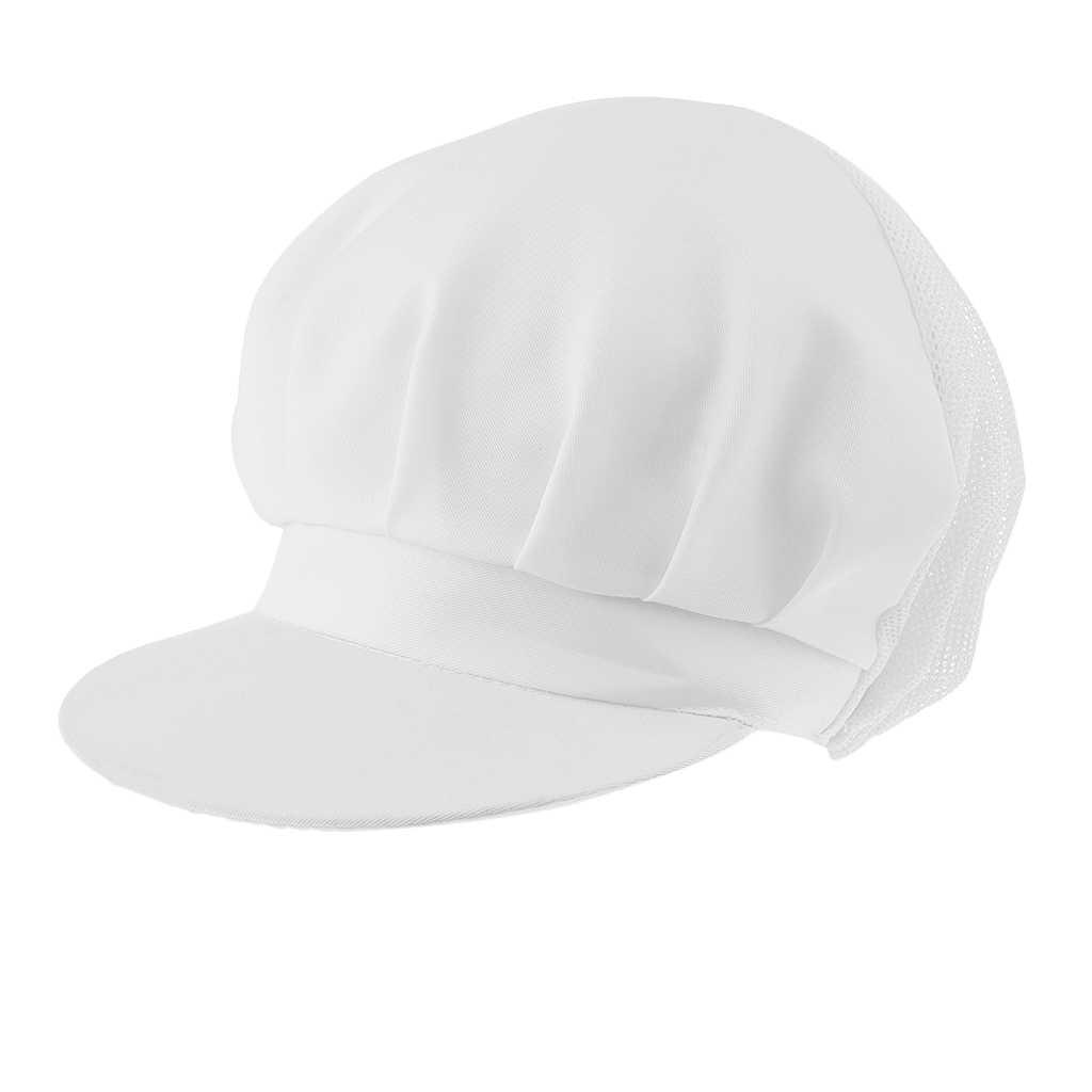 Réglable Chef chapeau Chef visière casquette gastronomie chapellerie Bistro Beanie chapeau Chef chapeau respirant maille blanc nourriture casquettes