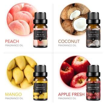 Lagunamoon 10ml*10pcs Kit Fragrance Oil Set Orange Coconut Vanilla Apple Strawberry Essential Oil For Diffuser Soap Candle 2
