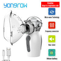 Yongrow 2019 najnowszy nebulizator ręczny Inalador Nebulizador inhalator dla astmatyków Atomizer dla dzieci dorosłych akumulator opieki zdrowotnej