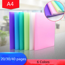 20 Вт, 30 Вт, 40 страниц A4 для хранения документов объекты файловых систем вставка Тесты Бумага буклет папка документа для хранения информации книга