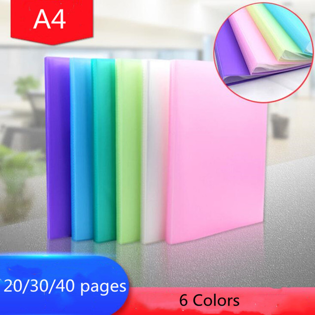 1PC NEW 20/30/40 pages A4 Document Storage Filing Products Insert Test Paper Booklet Folder Document Storage Information Book