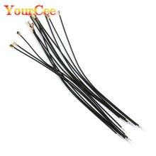100 pces preto ipx ipex u.fl fêmea 1.13mm cabo de conector conector adaptador de cabeça única 15cm ipx 1.13 cabo