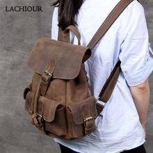 Рюкзак из натуральной кожи для мужчин и женщин ручной работы