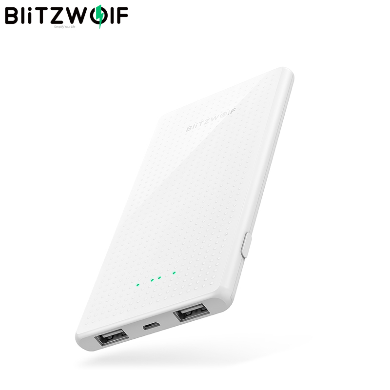 BlitzWolf BW P7 5000mAh Slim Design USB Power Bank for iPhone 11 Pro X XS Max 8 Plus for Samsung S9/S9+ S8 Note 9 White|Power Bank| - AliExpress