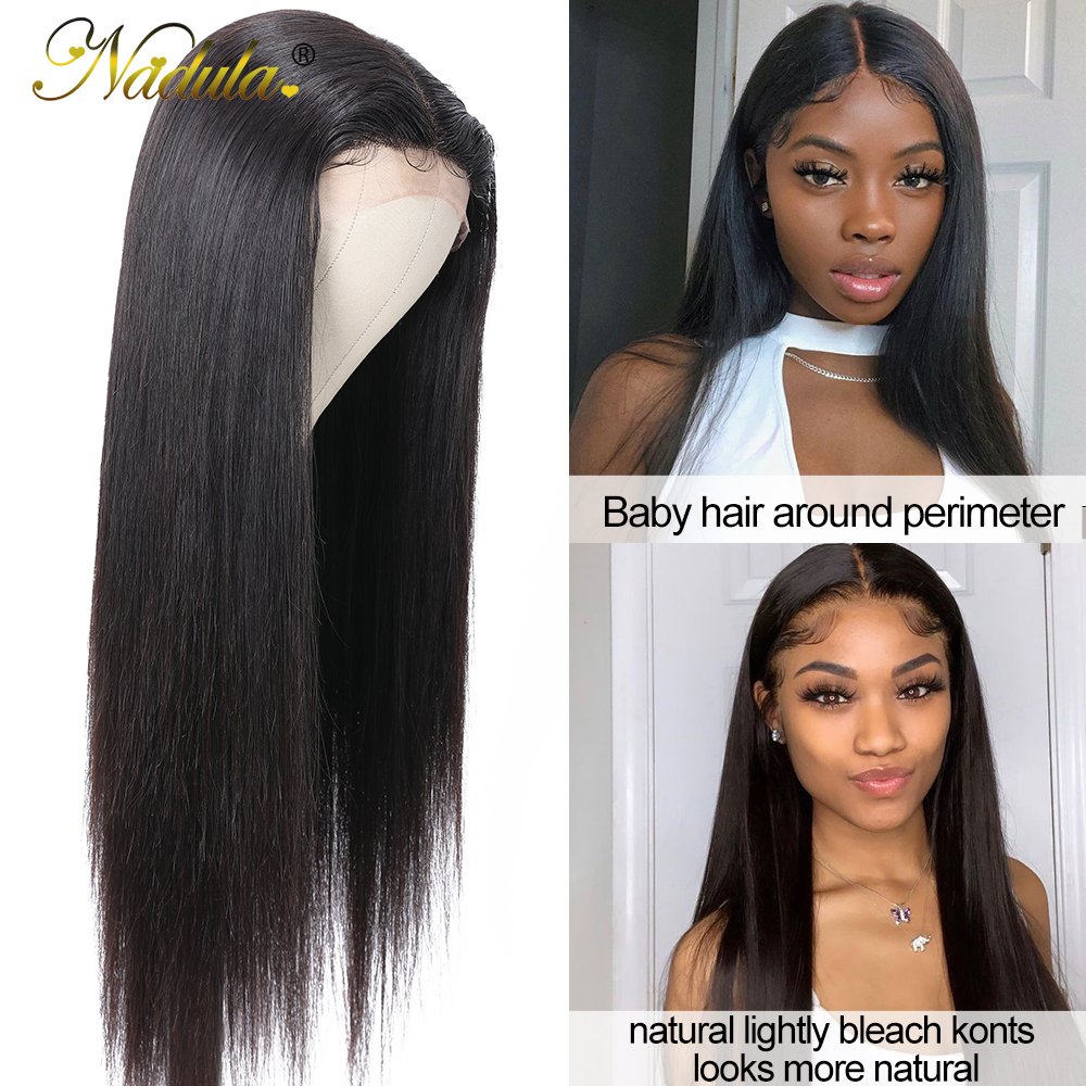 Nadula Straight Hair Deep Part Lace Frontal Wigs 13X1  Lace Front Wig T PART Lace Front Pre plucked Wigs 150 Density 3